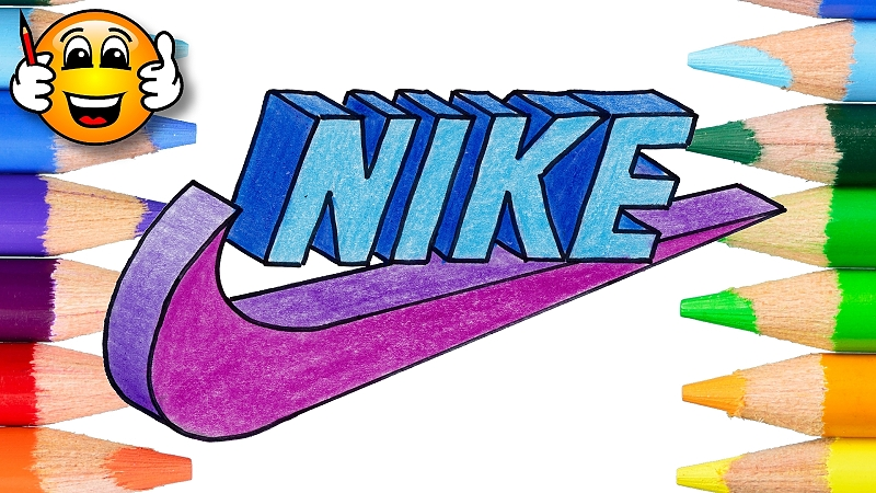 How to Draw the Nike Logo in 3D - Draw With