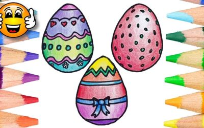 Easter Egg Coloring Pages for Kids to Learn Colors