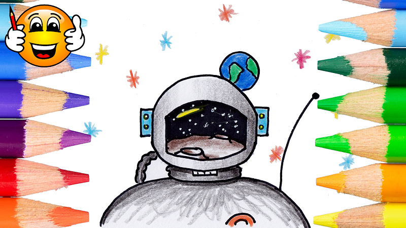 How to Draw an Astronaut Coloring Page