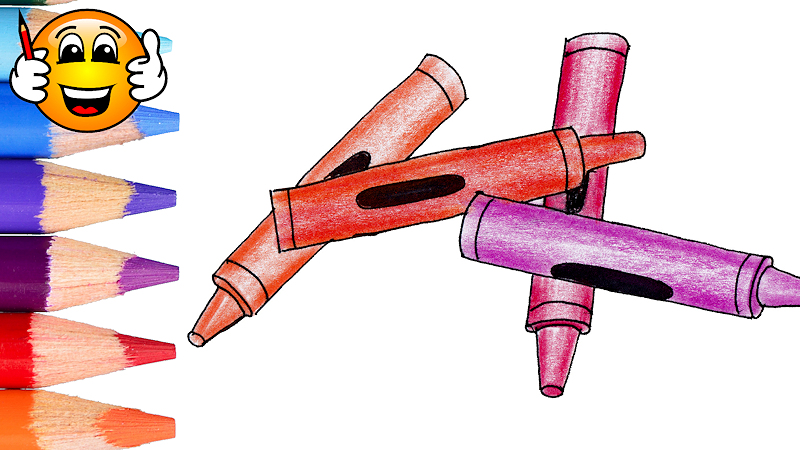 How to Draw and Color Crayons Coloring Page