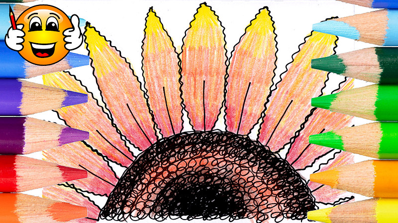 How to Draw a Sunflower Coloring Page for Kids