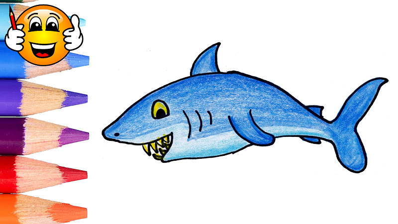 Shark Fish Coloring Pages For Kids Learning Videos For Kids