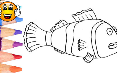 Nemo Clown Fish Coloring Pages For Kids