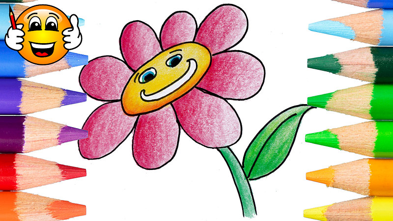 Coloring Pages For Kids Pink Flower