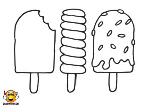 Drawwith Dot Com Popsicles Coloring Page Draw With