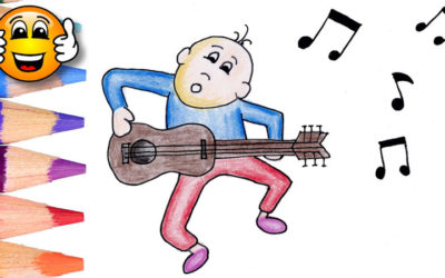 Coloring Pages For Kids Man Singing Dancing