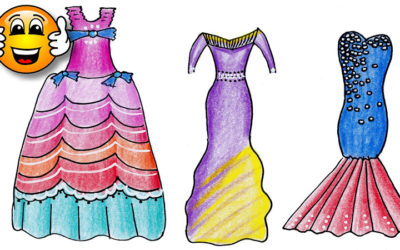 Coloring Pages For Kids Party Dress Dresses for Girls