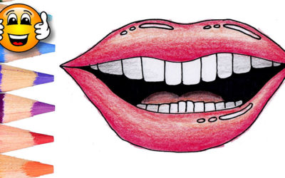 Coloring Pages For Kids Mouth Lips Teeth