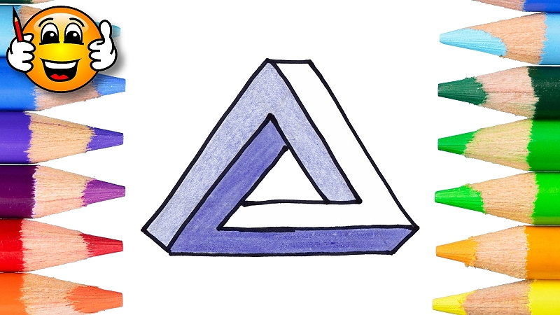 How to Draw an Impossible Triangle Optical Illusion