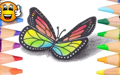 How to Draw a Butterfly in 3D for Kids