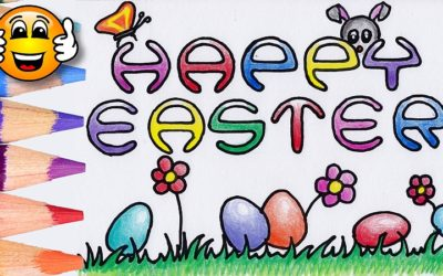 Happy Easter Egg Coloring Pages for Kids to Learn Colors