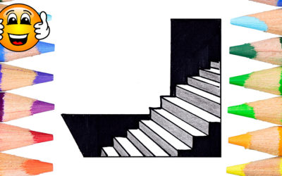 How to Draw a Stair Illusion