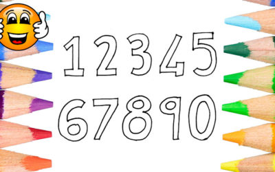 How to Draw Numbers Coloring Page for Kids