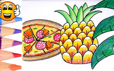 Learn to Draw a Pineapple Pizza Coloring Page for Kids