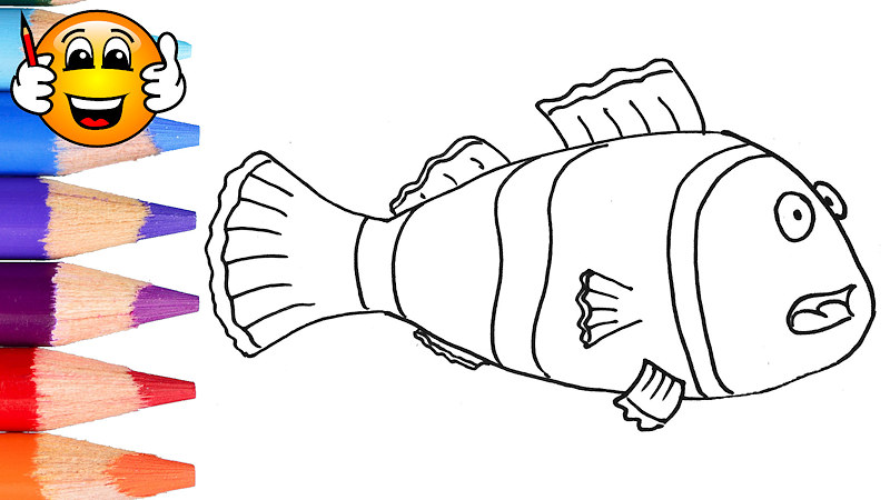 nemo clown fish coloring pages for kids draw with nemo clown fish coloring pages for kids