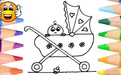 Baby Pram Coloring Pages For Kids