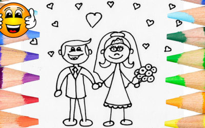 Coloring Pages For Kids Bride Groom Wedding