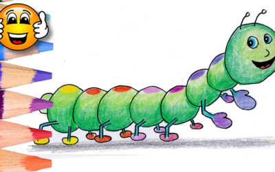 Caterpillar Coloring Page For Kids