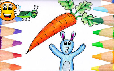 Bunny Carrot Coloring Pages for Kids
