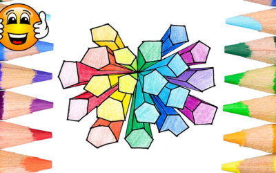 Learn to Color and Draw a 3D Maze Coloring Page for Kids