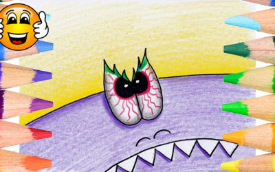 How to Draw and Color a Monster Coloring Page
