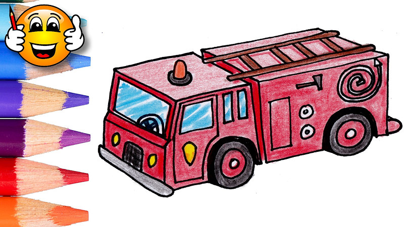 Coloring Pages For Kids Fire Truck Fire Engine