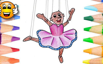 Coloring Pages For Kids Baby Ballerina Puppet