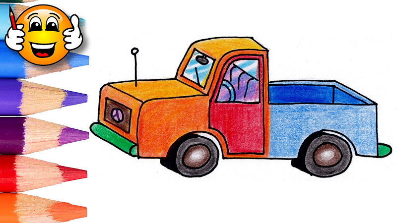 - Coloring Pages For Kids Pickup Truck - Draw With