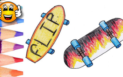 Coloring Pages For Kids Skateboard